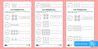 year 2 maths coin multiplication homework go respond activity