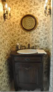 French Country Wallpaper by Country French Style Interior Powder Room Home Design And Decor