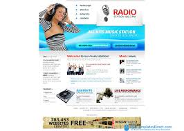 radio station website templates eliolera com