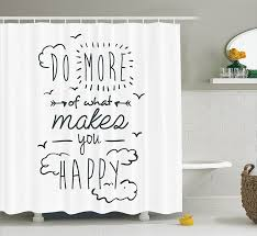 amazon com funny shower curtain inspirational quotes decor by
