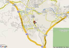 santa california map map of santa clarita motel newhall