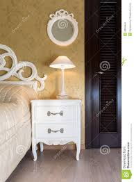 White Vintage Bedroom Furniture White Vintage Style Nightstand Stock Photo Image 48566449