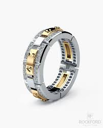 mens two tone gold wedding bands rex mens two tone gold wedding band with 0 60 ct diamonds