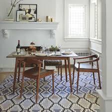 lena mid century dining table west elm uk