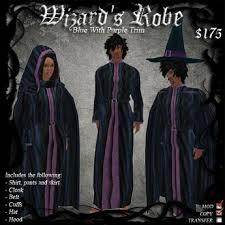 second life marketplace wizard s robe blue w purple trim