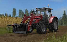 massey ferguson 5600 with frontloader mod for farming simulator