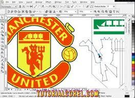 membuat poster dengan corel draw x7 menggambar logo mu manchester united dengan corel draw video
