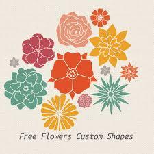 flower custom shapes photoshop custom shapes