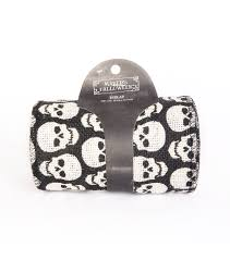 Joann Halloween Fabric by Maker U0027s Halloween Burlap Ribbon 5 U0027 U0027x20 U0027 White Skull Print On Black