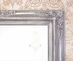 many sizes available silver framed bathroom mirror framed