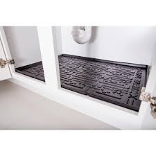 black kitchen depth under sink cabinet mat drip tray shelf liner