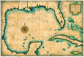map of mexico yucatan region gulf and caribbean map c 1800 maps cuba florida