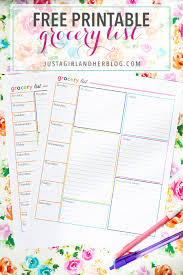printable household shopping list an organized grocery list and free printables