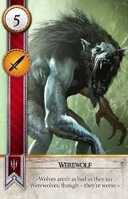 wild hunt witcher 3 werewolf werewolf gwent card the witcher 3 wild hunt witcher gwent
