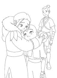 avatar coloring pages airbender coloring pages kids