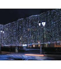 led outdoor curtain lights 6 metres snowfall effect white