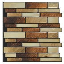 shop peel u0026stick mosaics peel and stick brushed copper linear
