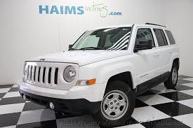 tire pressure jeep patriot 2016 used jeep patriot fwd 4dr sport at haims motors serving fort