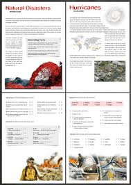 natural disasters by thematic worksheets teachers pay teachers