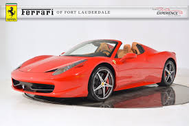 used 458 spider used 2015 458 spider for sale fort lauderdale fl