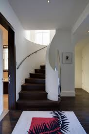wall mounted handrail staircase contemporary with apartment closed
