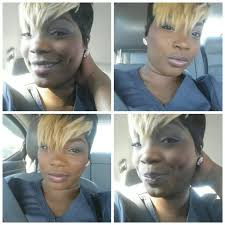 hair weave for pixie cut quick weave 27 piece with blonde pixie bangs short cuts