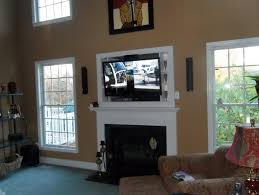 mounting a tv over a fireplace cameras and chaos tv over the