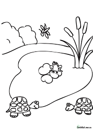pond coloring pages kids coloring