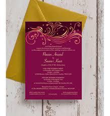 asian wedding invitation burgundy gold indian asian wedding invitation from 1 00 each