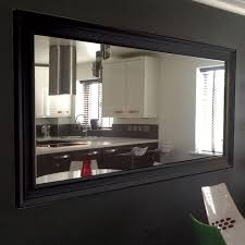 Large Mirror Size Very Large Black Framed Wall Mirror 206cm X 145cm Large Mirrors
