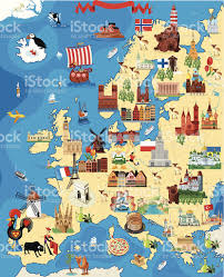 Europe Map Puzzle by Europe Cartoon Map Stock Vector Art 459984837 Istock
