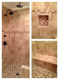 Master Shower Ideas by Tile Shower With Bench Beige Custom Tile Shower With Rain Head