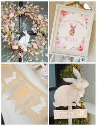 bunny decorations best 25 bunny birthday ideas on bunny party easter