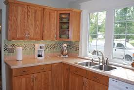 Green Tile Kitchen Backsplash by Kitchen Handsome Small U Shape Modern Kitchen Design With Light