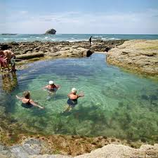 Pennsylvania wild swimming images Polperro beach tidal rockpool cornwall best outdoor swimming jpg