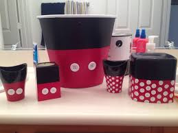 Red And Black Bathroom Accessories by I Couldn U0027t Find Minnie And Mickey Mouse Bathroom Accessories So I