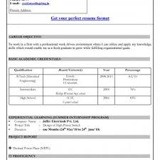 resume sles for freshers in word format download sle resume for freshers in word format new download