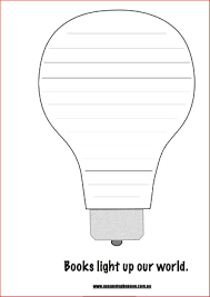 pdf lightbulb template children u0027s book week 2015