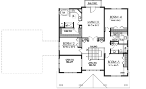 five bedroom floor plans bungalow style house plans plan 1 334