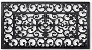 Wrought Iron Rubber Doormat Bs Rubber