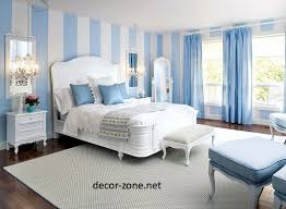 Curtain For Light Blue Wall Modelismohldcom - Blue bedroom color schemes