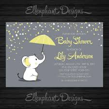 teddy bear baby shower invitations yellow elephant baby shower invitation umbrella rain baby