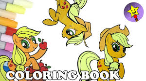 applejack coloring book pages compilation my little pony mlp