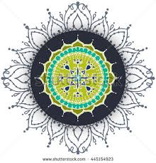card circular floral ornament pattern stock vector 445154923