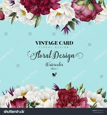 Invitation Card With Photo Greeting Card Roses Watercolor Can Be Stock Illustration 443582278