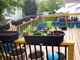 deck railing planters usa garden inspirations including rail
