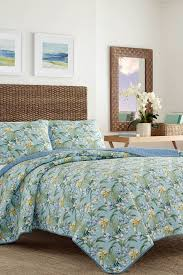 Bahama Bed Set by Tommy Bahama Julie Cay King Quilt U0026 Sham 3 Piece Set Blue