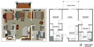 Small 2 Bedroom House Plans 2 Bedroom Apartment Floor Plans 3d Tags 2 Bedroom Apartment