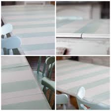 Dining Room Table Refinishing Diy Striped Dining Room Table Restless Arrow Furniture