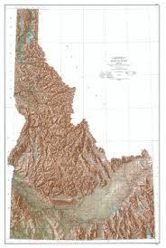 map of idaho wall map of idaho physical map of idaho